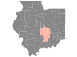 Indiana and Illinois combined coverage map coral