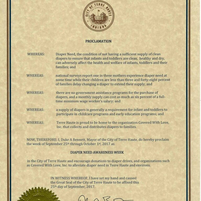 Terre Haute City Proclamation