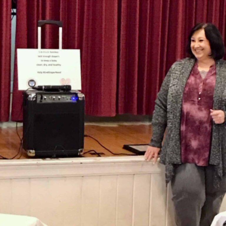 CWL Founder speaking at appreciation banquet